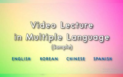 Video Lecture in Multiple Language